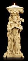 Tealight Holder - Triple Goddess white
