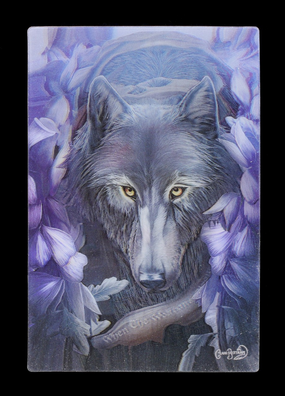 3D Postcard with Wolf - Wolfbane