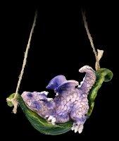 Cute Dragon Figurines - Lounge around - purple