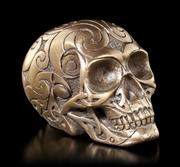 Totenkopf - Celtic Skull bronze mini