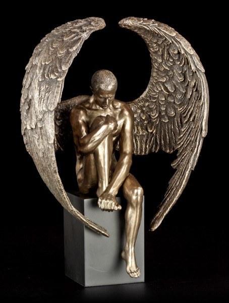 Engel Akt Figur - Besinnung - Angel's Reflection