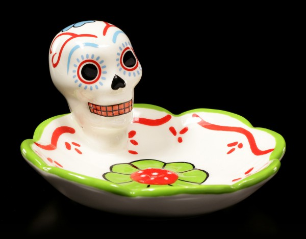Skull Dish - Day of the Dead - green