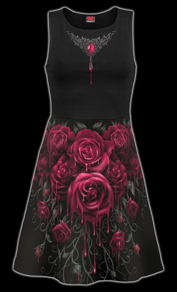 Skater Kleid Midi - Blood Rose