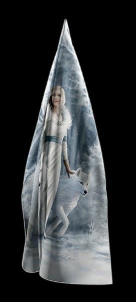 Maxi Schal mit Wolf - Winter Guardians