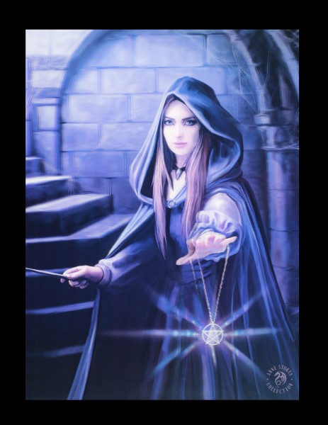 3D Picture with Female Sorcerer - Light in the Darkness