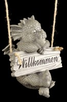 Drachen Gartenfigur - Willkommen
