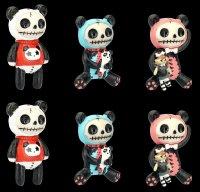 Furrybones Fridge Magnets - Pandie - Set of 6