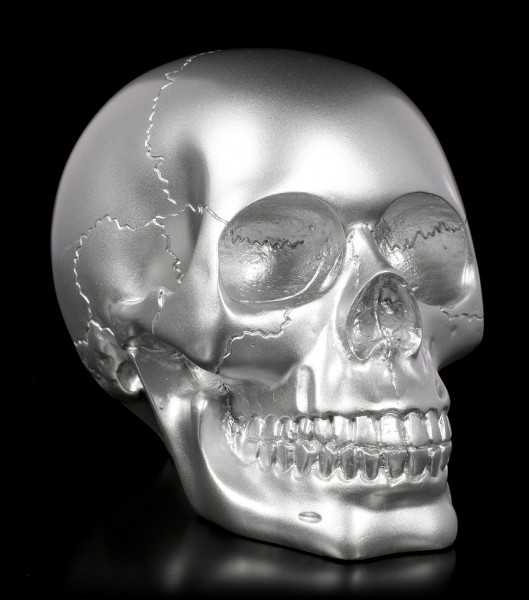 Skull - silver-colored