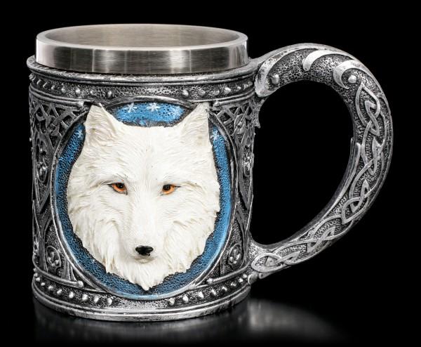 Fantasy Tankard - Lone Wolf white