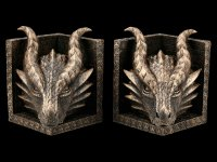 Mighty Dragon Head Bookends