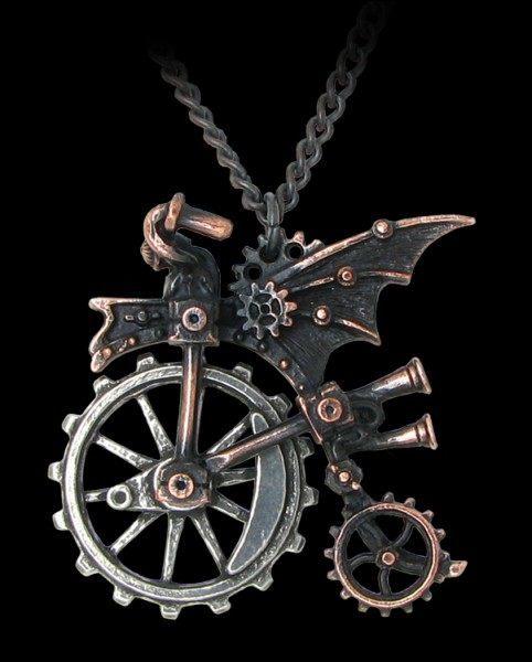 Alchemy Steampunk Halskette - Ventus Traction Farthing