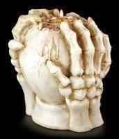 Totenkopf Teelichthalter - Furchtbare Kopfweh