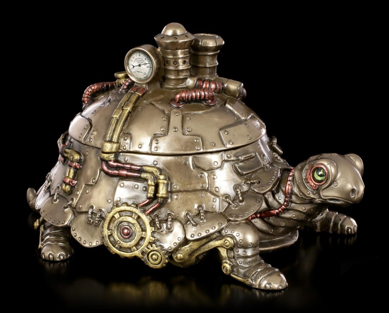 Steampunk Figurine - Tortoise Box