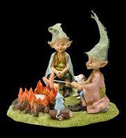 Tea Light Holder - Pixie Goblin Figurine - Barbecue Dinner