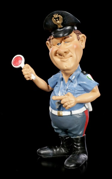 Funny Job Figurine - Italian Police Officer