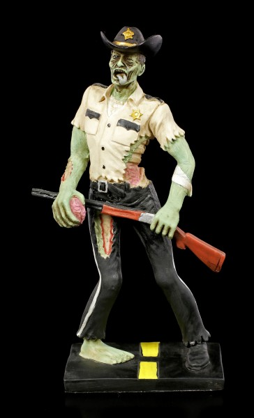 Zombie Figurine - Sheriff with Gun