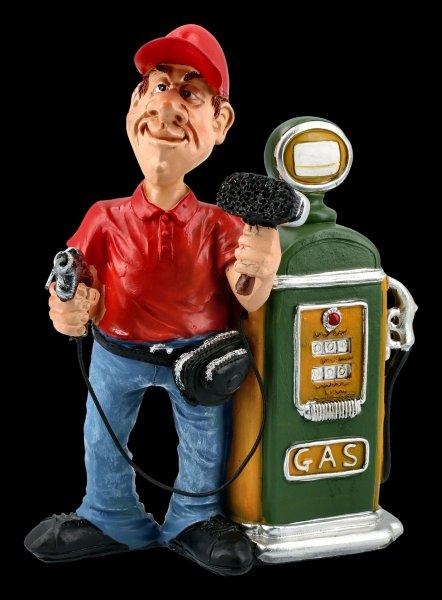 Funny Jobs Figurine - Petrol Attendant on Pump