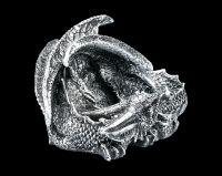 Dragon Figurine Set of Two - Silver Nightstar