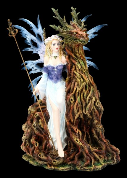 Fairy Figurine - Tamesis with Forest Dragon