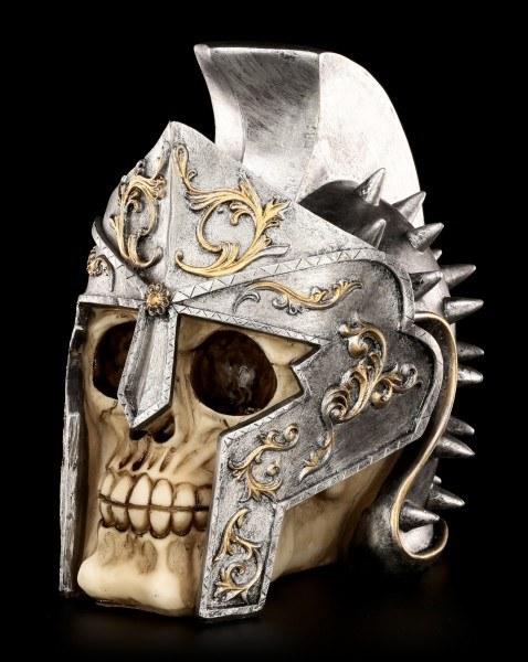 Totenkopf mit römischem Gladiatorenhelm