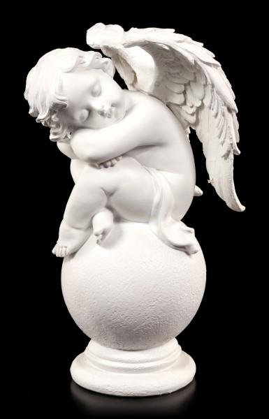 Engel Figur - Schlafend auf einer Kugel