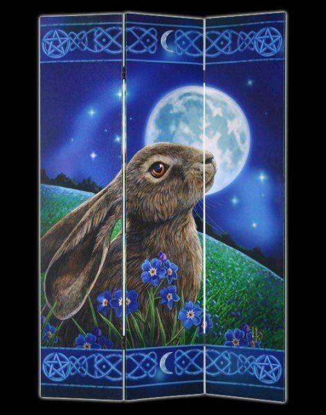 Raumteiler - Moon Gazing Hare by Lisa Parker