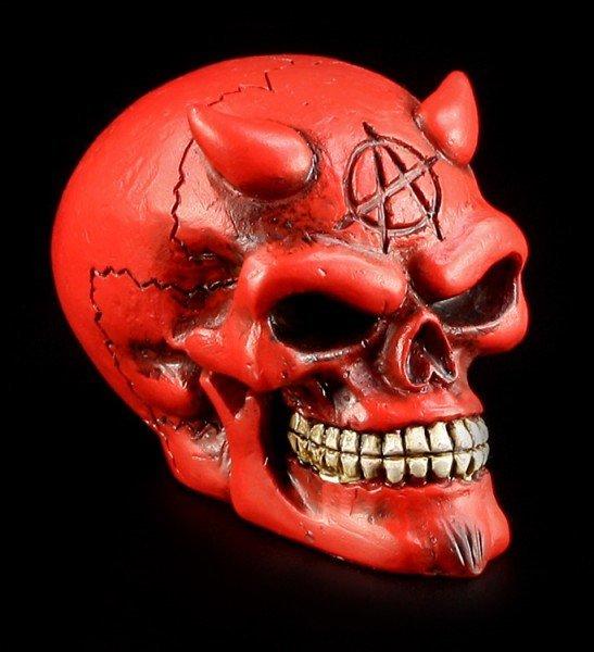 Totenkopf Schaltknauf - Teufel rot