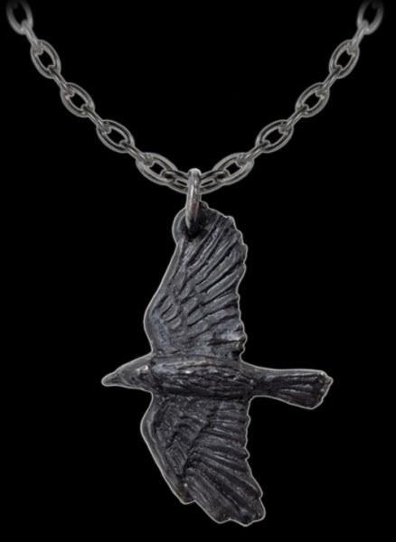 Alchemy Halskette mit Rabe - Black Raven
