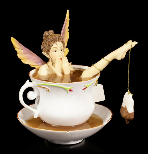 Elfe in Tasse Figur - Tea Bath