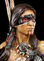 Indianer Büste - Indianer mit Tomahawk