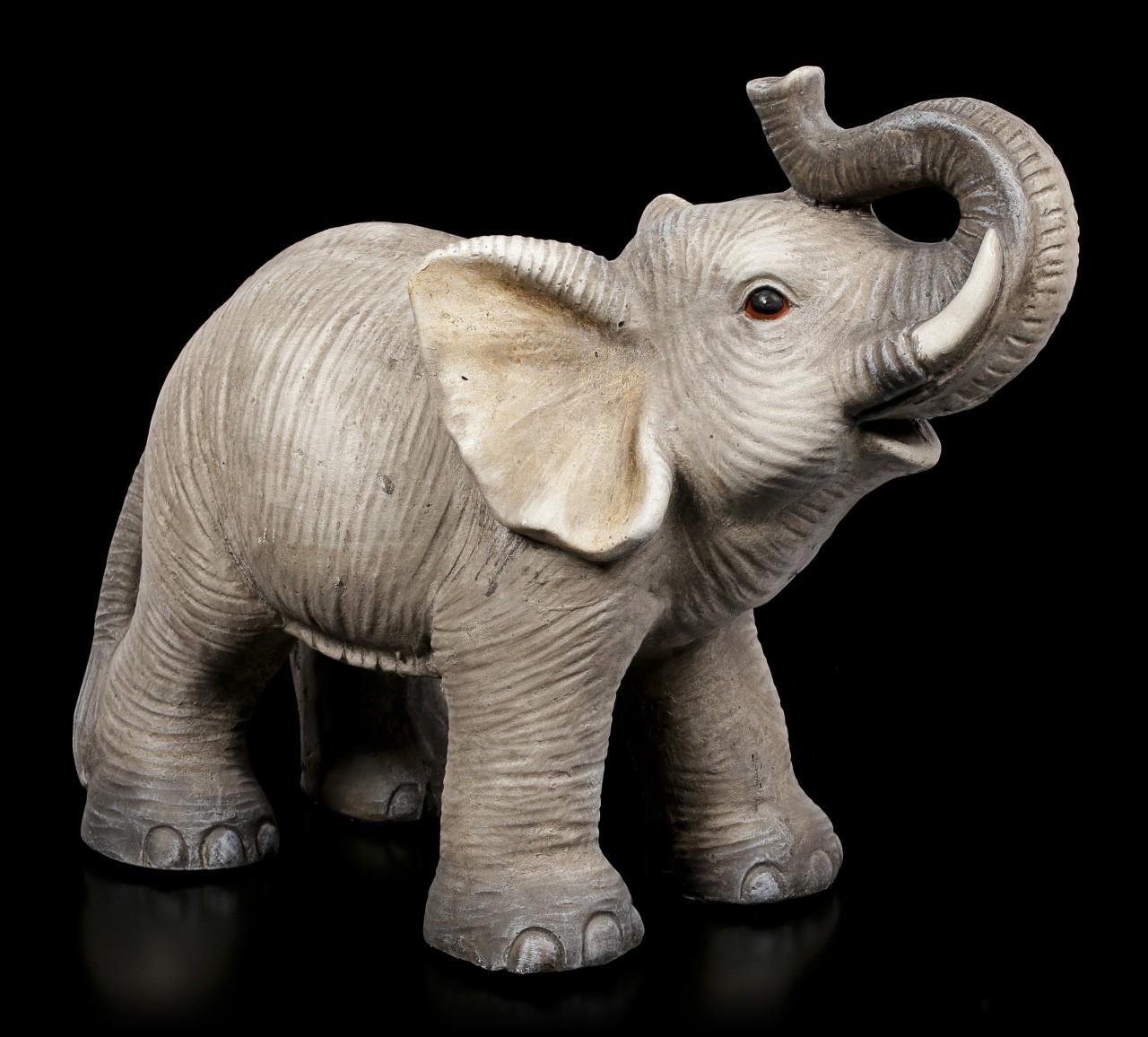 Garden Figurine - Elephant with raised Trunk