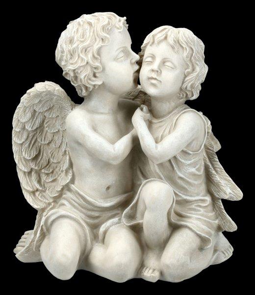 Gartenfigur - Engel Bub und Mädchen