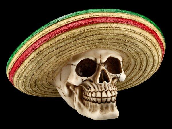 Totenkopf mit Sombrero