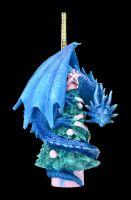 Christbaumschmuck - Weihnachts-Drache mit Baum