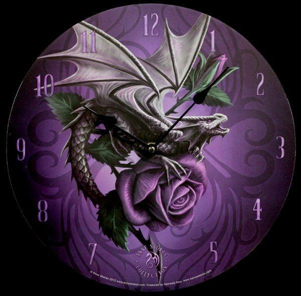 Wanduhr Dragon Beauty - Anne Stokes