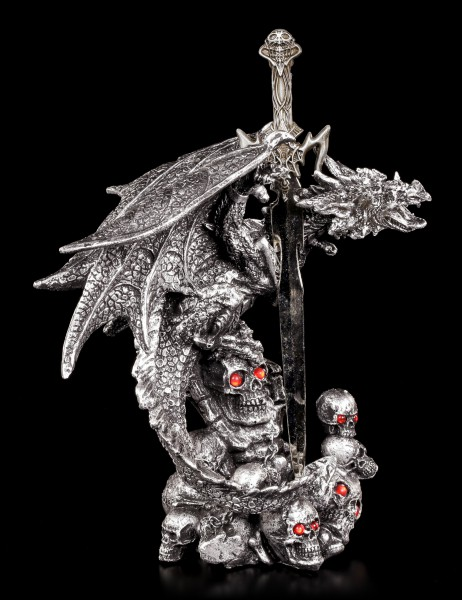 Letter Opener - Dragon Balor with Skulls