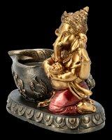 Ganesha Figurine with Tealight Holder