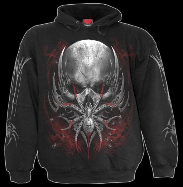 Kapuzenpullover Totenkopf Spinne - Spider Skull