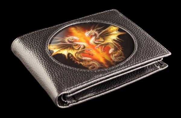 Geldbörse schwarz mit 3D Drache - Desert Dragons