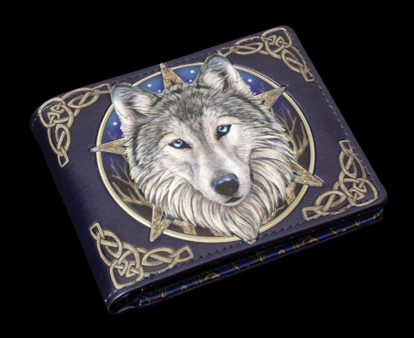 Men's Wallet with Wolf - Wild One - embossed