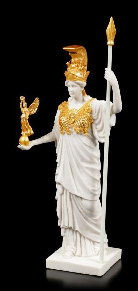 Athena Figurine - Greek Goddess white-gold