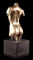 Female Nude Figurine - Torso on black Monolith
