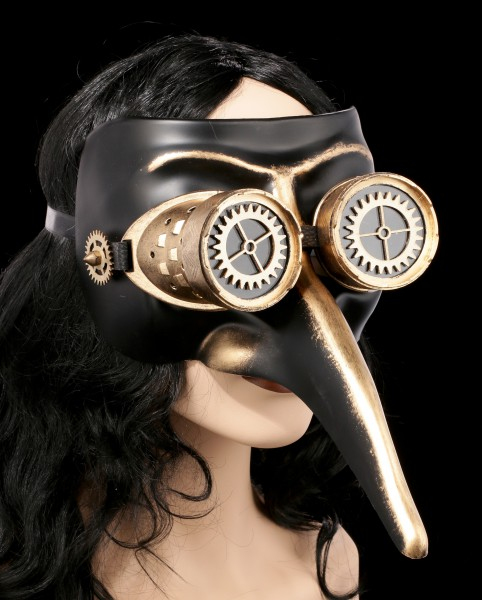 Steampunk Mask - Black Death