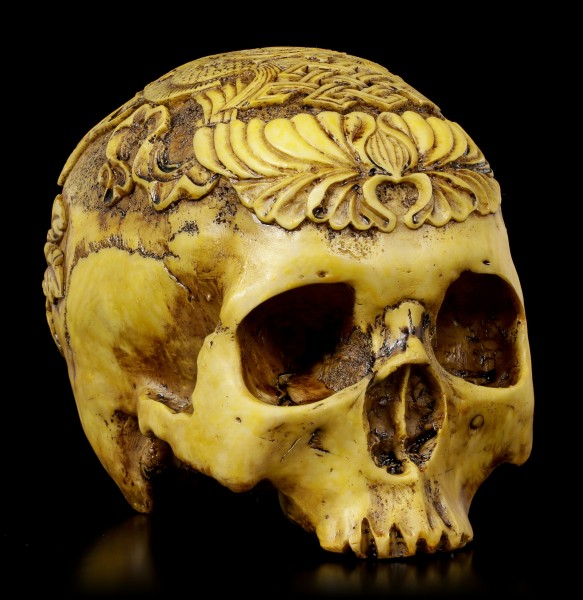 Human Skull Ashtamangala - The Eight Auspicious