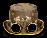 Steampunk Hat with Goggles - Whitby Wanderer