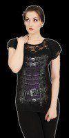 Netz Shirt Damen Gothic - Waisted Corset