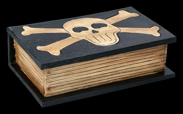 Wooden Skull and Crossbones Box