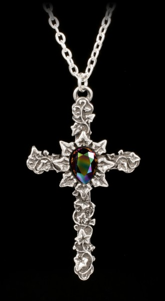 Alchemy Gothic Necklace - Ivy Cross