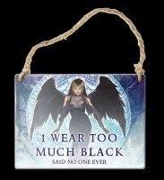 Alchemy Metallschild klein - I wear to much black