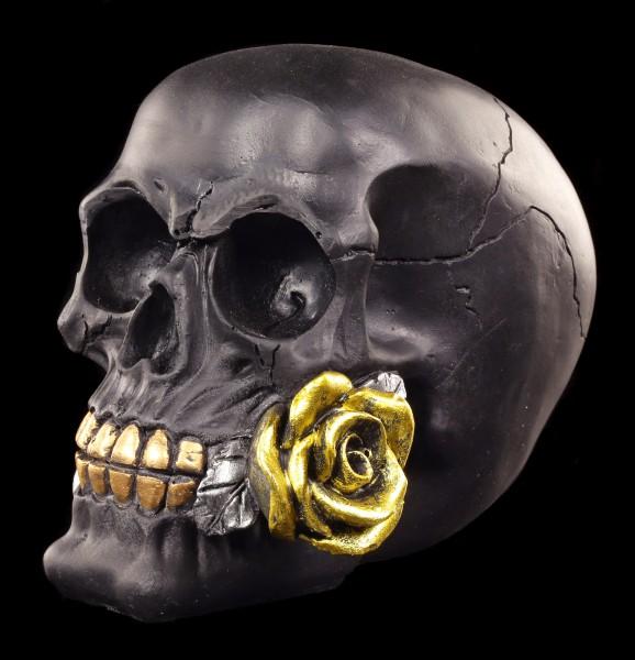 Totenkopf mit Rose - Black Rose from Dead